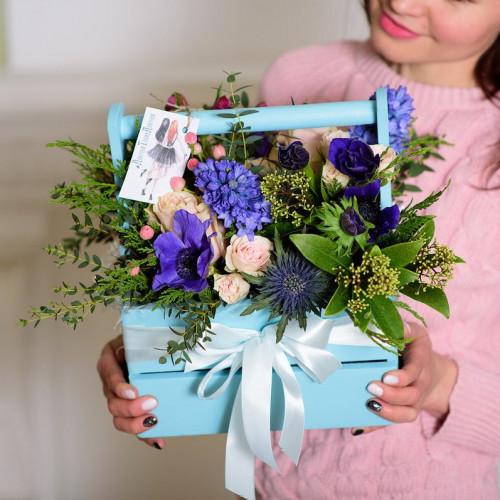 Ящик с цветами «Синева»