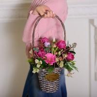 Корзинка с цветами «Пробуждение весны»