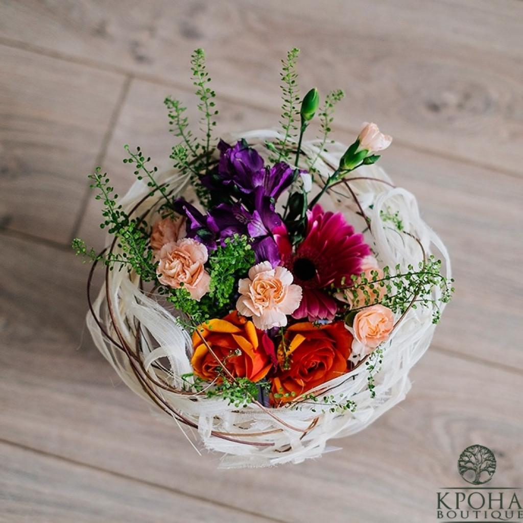 Букет «Лукошко цветов»