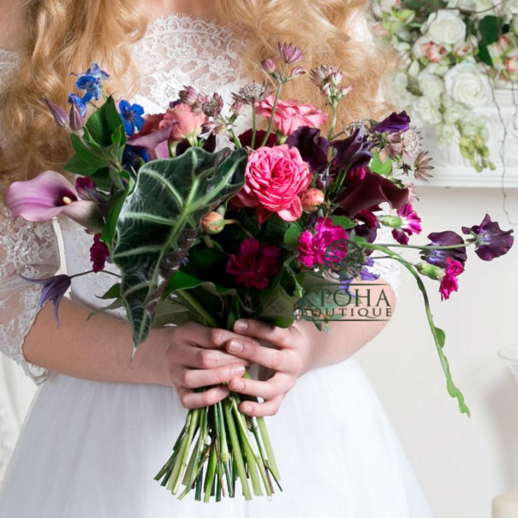 Свадебный букет «Марсал» - волшебство в деталях