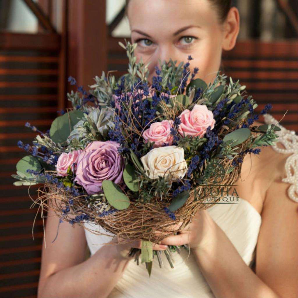 Свадебный букет «Прованс» - загадочная экзотика