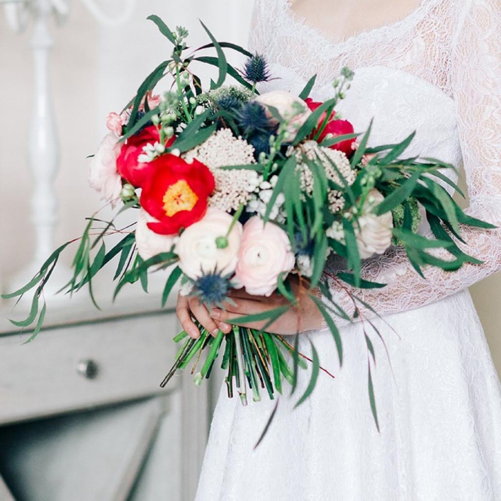 Букет «Первый поцелуй» - свадебная романтика