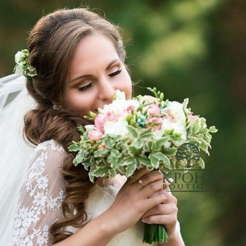 Свадебный букет «Мятная свежесть»